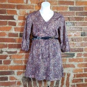 H&M Pink/Purple Printed Dress size 12